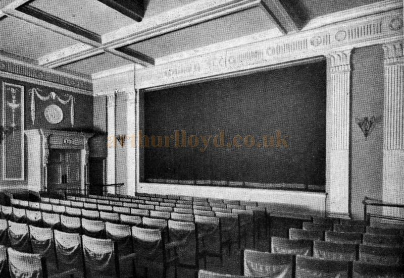 The auditorium of the Little Theatre, John Street, London - From Theatre World 1962 - Courtesy Maurice Poole