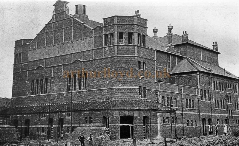 The Grand Theatre, Llandudno whilst under construction in 1901 - With Kind Permission Llandudno Library.