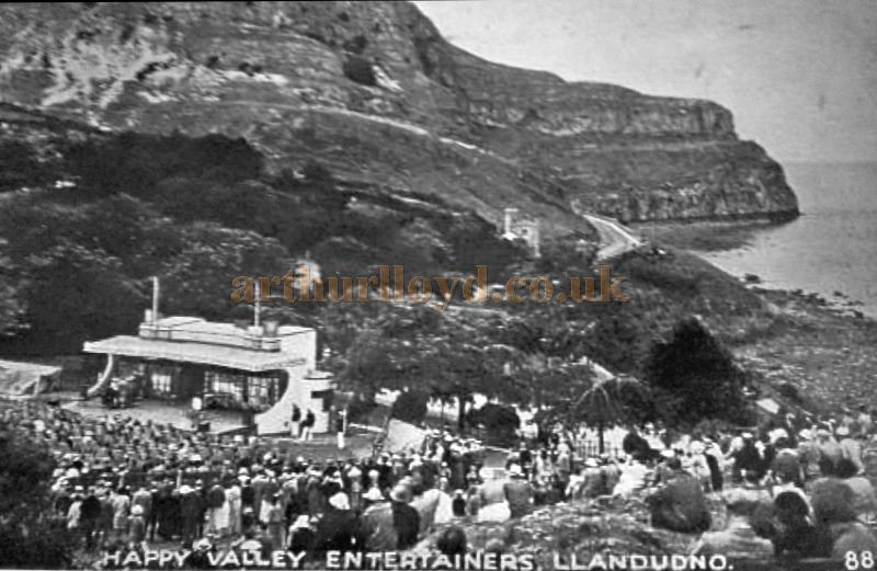A Postcard showing the Happy Valley Theatre in the 1930s - With Kind Permission Llandudno Library