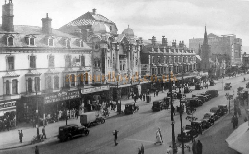 An early photograph of Gloddaeth Street, Llandudno showing the Palladium Theatre - With Kind Permission of The Llandudno Library.