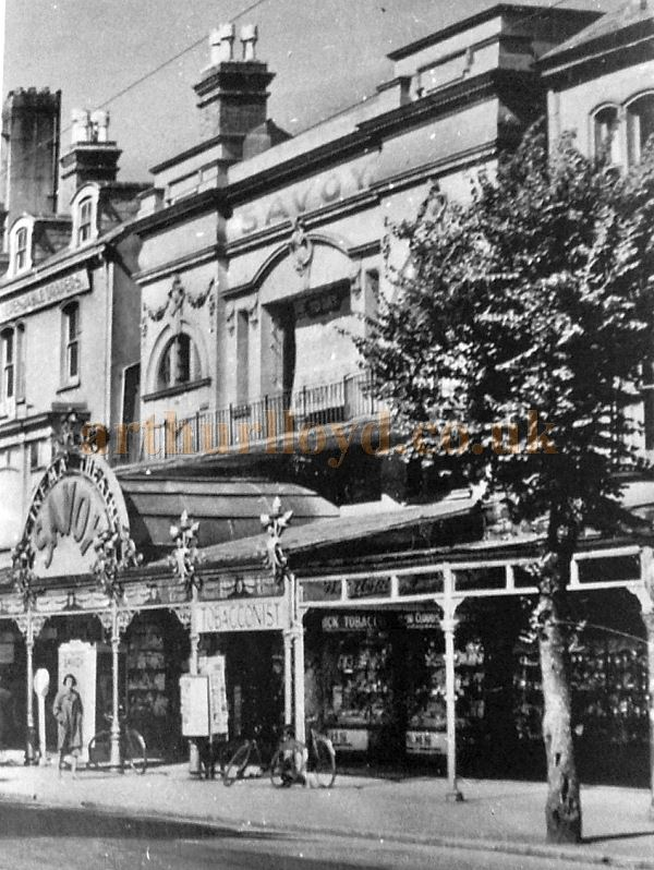 An early photograph of the Savoy Cinema Theatre, Llandudno - With kind permission Llandudno Library