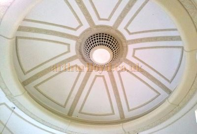 Surviving dome in the former St. Georges Hall / Princes Theatre, Llandudno in 2013 - Courtesy George Richmond.