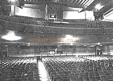 A Photograph of the Auditorium of the Winter Garden Theatre, Llandudno held at the Llandudno Reference Library.