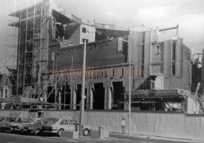 The Winter Gardens Theatre being demolished in the late 1980s - With kind Permission Llandudno Library