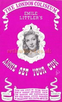 A Programme Cover for 'Annie Get Your Gun' at the London Coliseum in 1947 - Kindly Donated by Judy Jones.