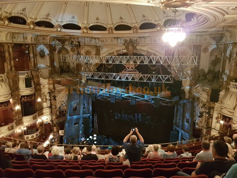 The Auditorium of the London Coliseum during the run of 'Bat Out Of Hell' in July 2017