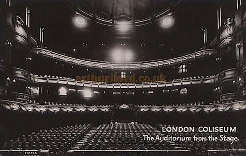 Above - The London Coliseum Auditorium - From a Postcard