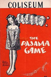 Programme for 'The Pajama Game' at the London Coliseum in 1955