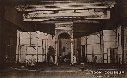 Scene Setting at The London Coliseum - From a Postcard.