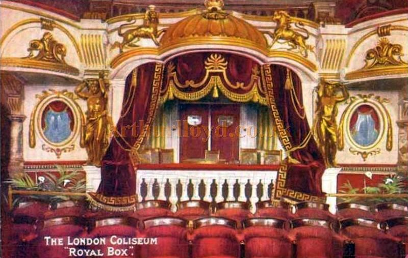 The London Coliseum Royal Box - From a Postcard 1904