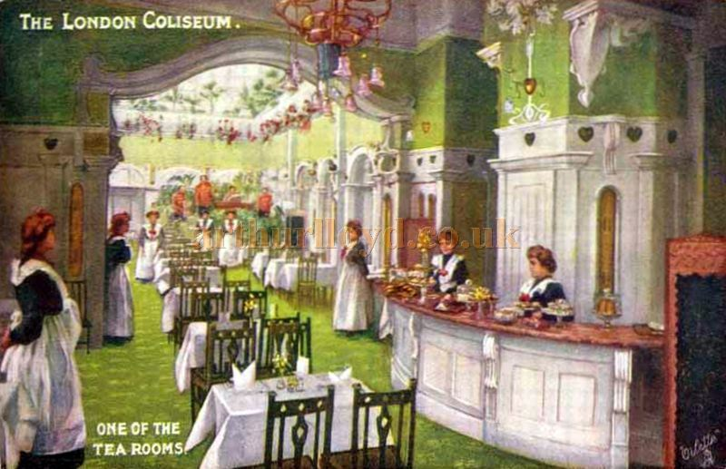 The London Coliseum Tea Room - From a Postcard 1904