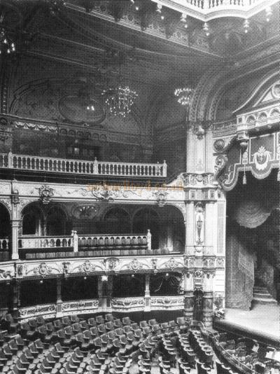 The London Hippodrome's wonderful Frank Matcham auditorium long before the 1958 devastation caused by the Theatre's conversion into the 'Talk of The Town.' London Metropolitan Archives.