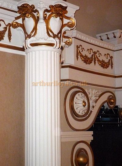 Detail of some of the refurbished plasterwork at the Hippodrome Casino in July 2012 - Courtesy Terry Powell.