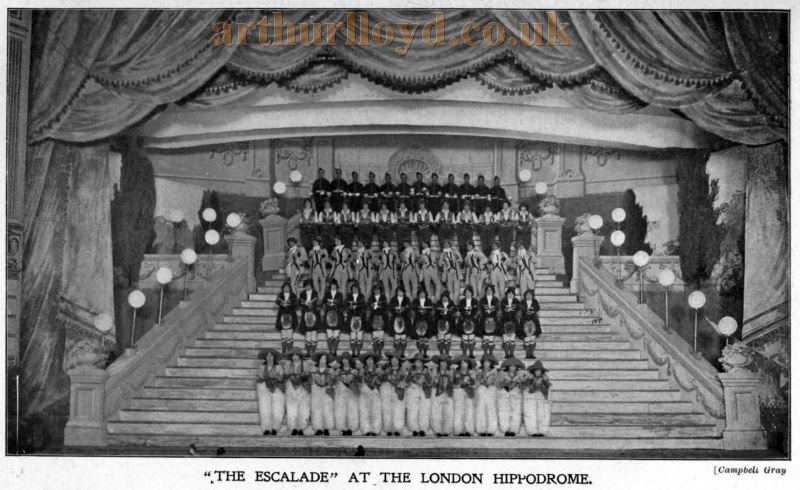 A Scene from 'The Escalade' at the London Hippodrome - From The Stage Yearbook of 1914.