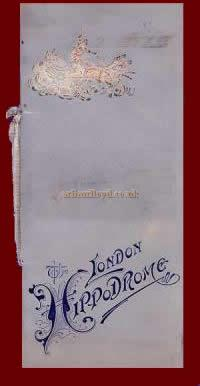 A programme for the London Hippodrome from July the 30th 1900 - Click for a special feature on this programme.