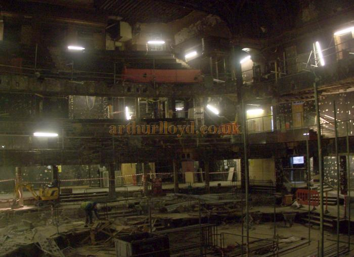The auditorium of the London Hippodrome is finally revealed after works to remove the 1958 Talk of the Town false ceiling and subsequent alterations are completed in November 2009 - Photo M.L. November 2009