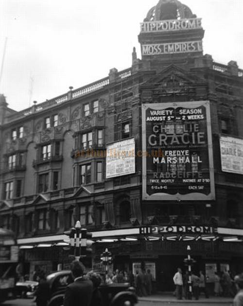 The London Hippodrome featuring Charlie Gracie in a 1950s Variety Season - - Courtesy Gerry Atkins