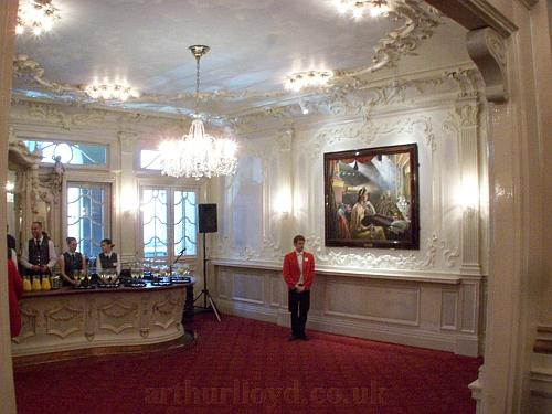The London Palladium's Cinderella Bar shortly before guests arrived to celebrate the Theatre's 100th Birthday on the 12th of November 2010. - Photo M.L.