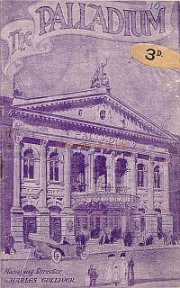 1917 variety Programme for the London Palladium during Charles Gulliver's management.