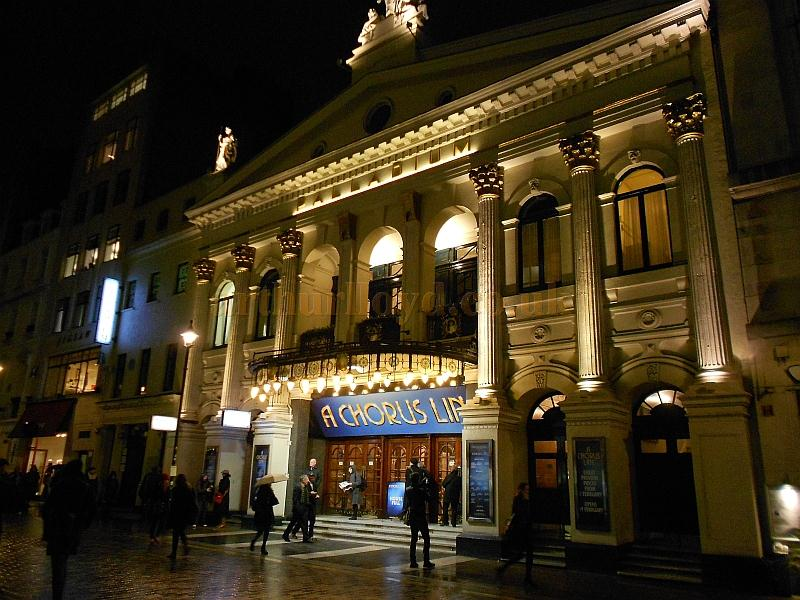 The London Palladium on the night of the first preview of the revival of the 1975 production of 'A Chorus Line' on the 5th of February 2013 - Photo M.L.