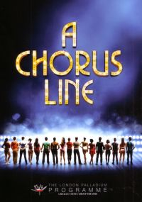 A Programme for the London Palladium production of 'A Chorus Line' in February 2013 .