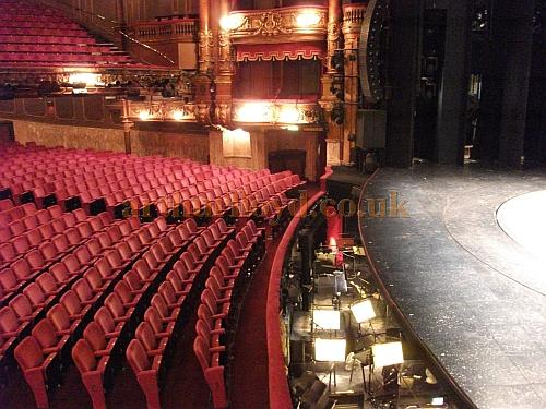 The auditorium and stage at the London Palladium in a photograph taken in May 2011 - Courtesy Philip Marshall.