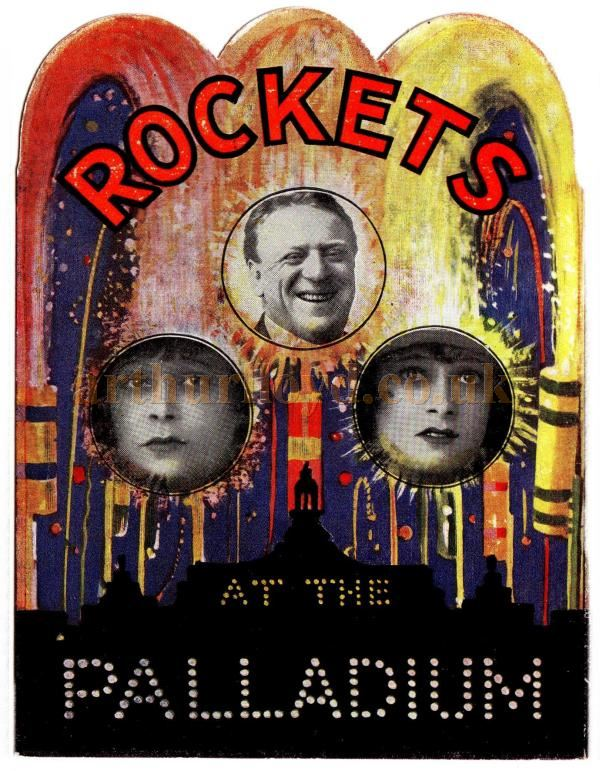 The cover of a brochure for 'Rockets' at the London Palladium in 1922 - Courtesy Chris Woodward.