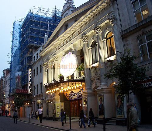 The London Palladium during production for 'The Sound Of Music' in October 2006. - Photo M.L.