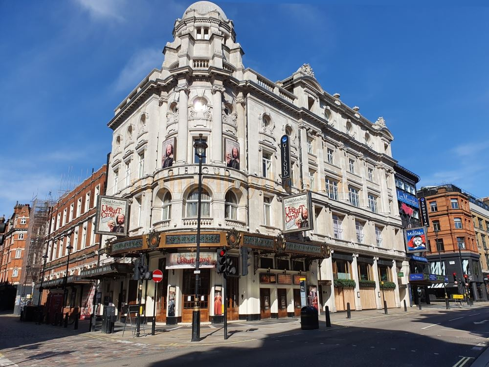 The Gielgud Theatre on Shaftesbury Avenue - on March the 23rd 2020 during the Coronavirus Pandemic - Photo M.L.