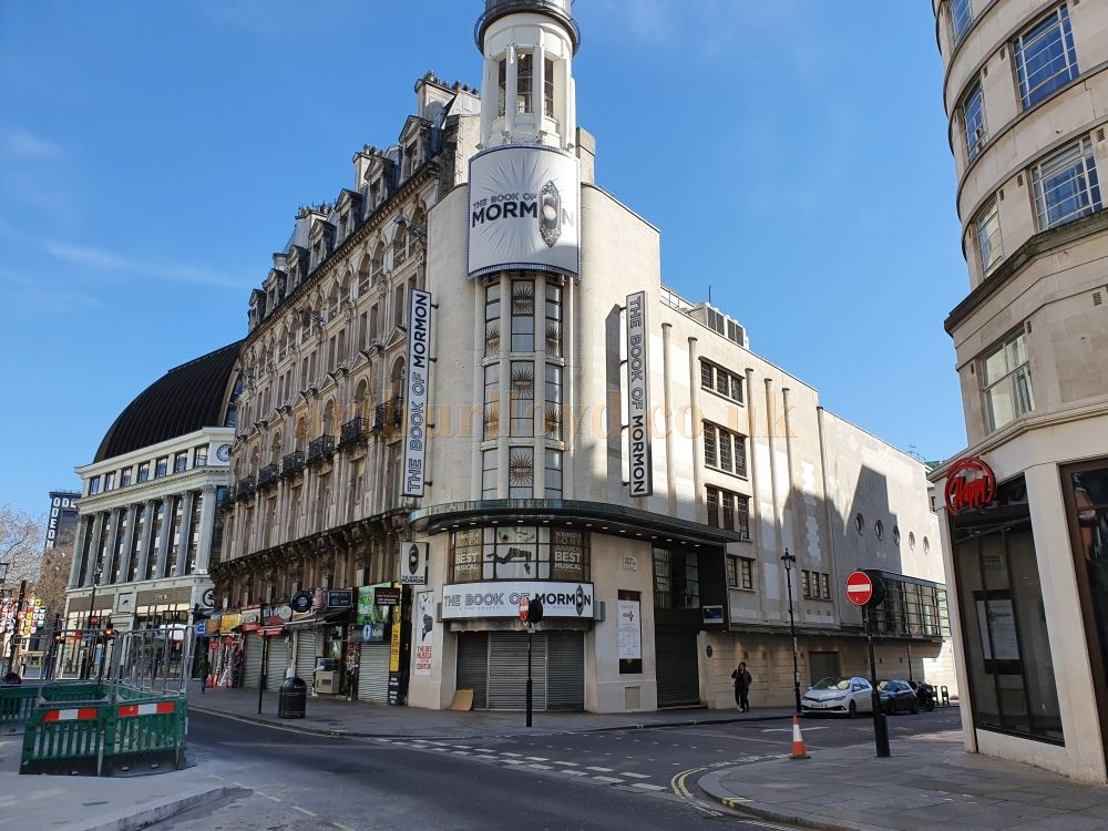The Prince of Wales Theatre - on March the 23rd 2020 during the Coronavirus Pandemic - Photo M.L.