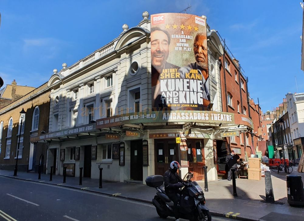 The Ambassadors Theatre - on March the 23rd 2020 during the Coronavirus Pandemic - Photo M.L.