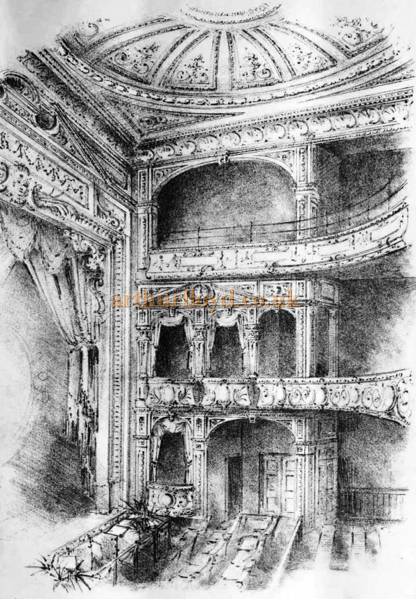 A Sketch showing the Auditorium of the Grand Theatre, Luton - From the Building News and Engineering Journal, September 1st 1899