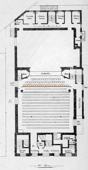 A Ground Plan for the Grand Theatre, Luton - From the Building News and Engineering Journal, September 1st 1899.