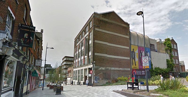 A Google StreetView Image of the Hat Factory, Luton - Click to Interact