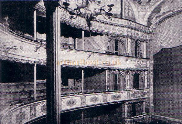 The C. J. Phipps auditorium of the Lyceum Theatre in 1890 - From 'The Lyceum' by A. E. Wilson 1952