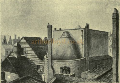 The roof of the first Lyceum Theatre - From 'The Lyceum and Henry Irving' by Austin Brereton, published in 1903.