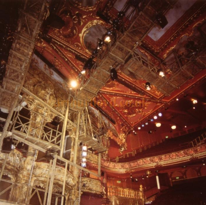 Bertie Crewe's wonderful Lyceum Theatre Auditorium being restored in 1996 - From the Theatre's Opening Souvenir Brochure of 1996