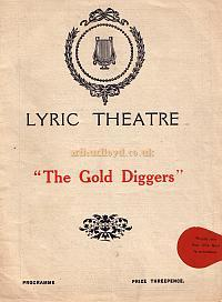 Programme for 'The Gold Diggers' at the Lyric Theatre in 1926, which ran for 180 performances.