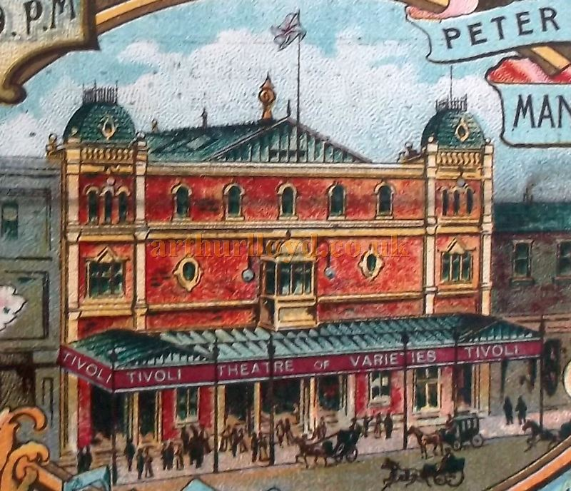The Tivoli Theatre, Manchester - From a variety programme for the Theatre in 1906 - Courtesy Roy Cross.