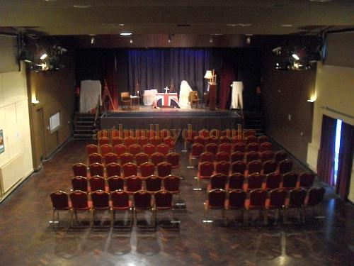 The auditorium and stage of the Memorial Theatre, Broadstairs - Courtesy Stephen Bradley and Michael Wheatley-Ward.