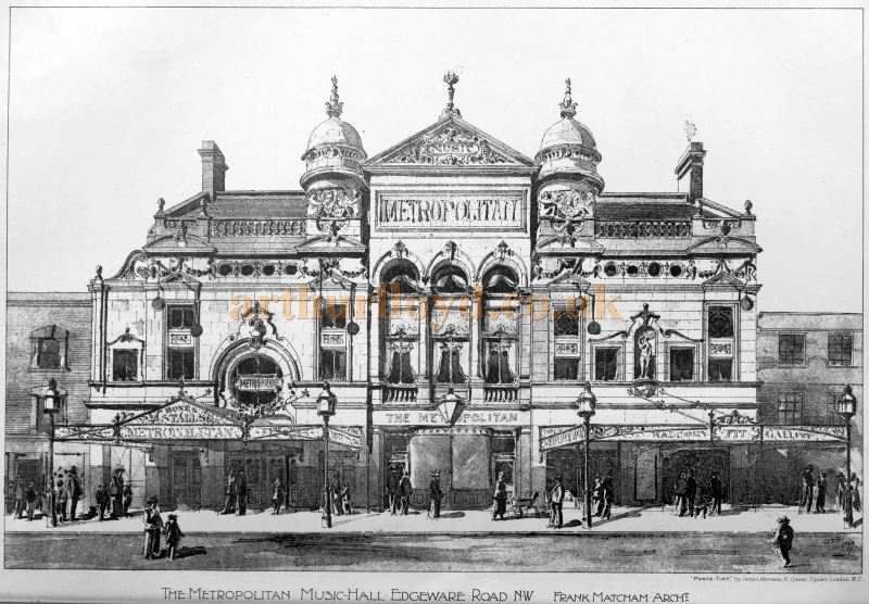 A Sketch showing Frank Matcham's new Metropolitan Music Hall - From the Building News and Engineering Journal, February 25th 1898.