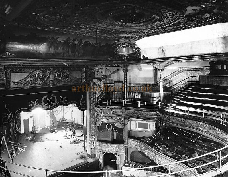 Demolition begins on the Metropolitan Theatre in 1963 - Photo Courtesy Peter Charlton.
