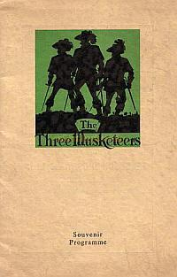 A programme for the Middlesbrough and District Operatic Society's production of 'The Three Musketeers' for the week of the 1st of May 1950.