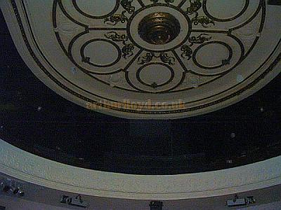 Part of the ceiling decoration at the Empire, Middlesbrough in a photograph taken in 2008 - Courtesy John West.