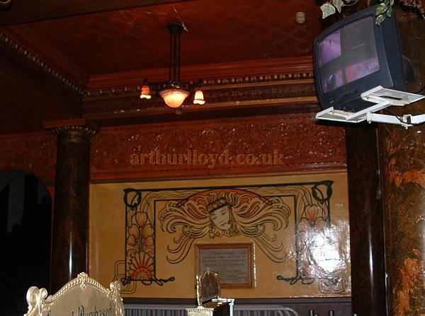 Some of the elaborate plasterwork in the vestibule of the Empire, Middlesbrough in a photograph taken in 2008 - Courtesy John West.