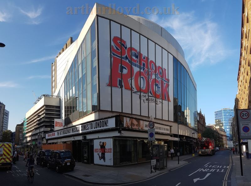 The New London Theatre during production for 'School of Rock The Musical' in September 2016 - Photo M.L.