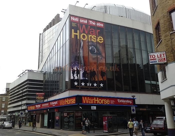 The New London Theatre during the run of 'War Horse' in 2010 - Photo M.L.