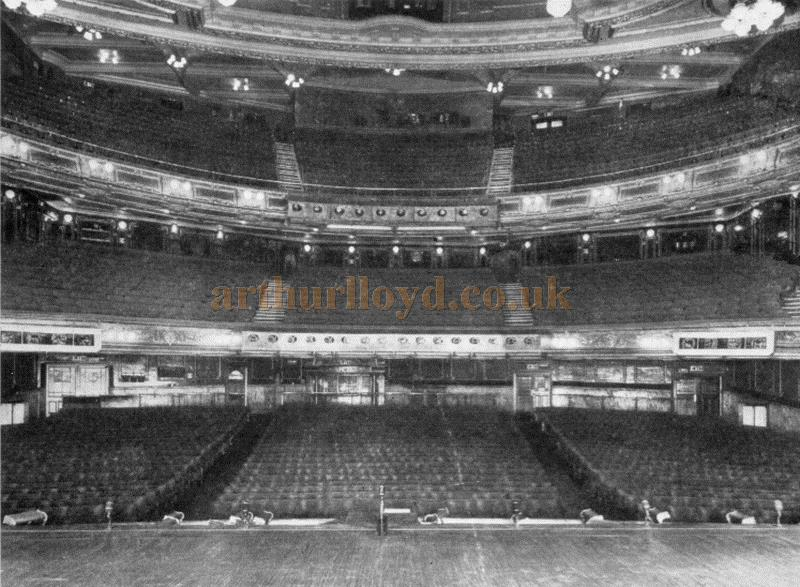 The auditorium of the London Palladium in 1949 - From the Moss Empires Jubilee Brochure of 1949
