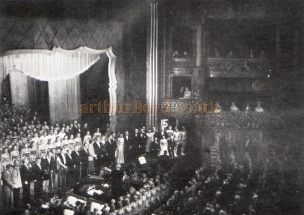 The finale of the 1948 Royal Variety Performance at the London Palladium - From the Moss Empires Jubilee Brochure of 1949.