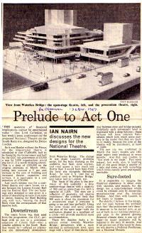 IAN NAIRN discusses the new designs for the National Theatre.